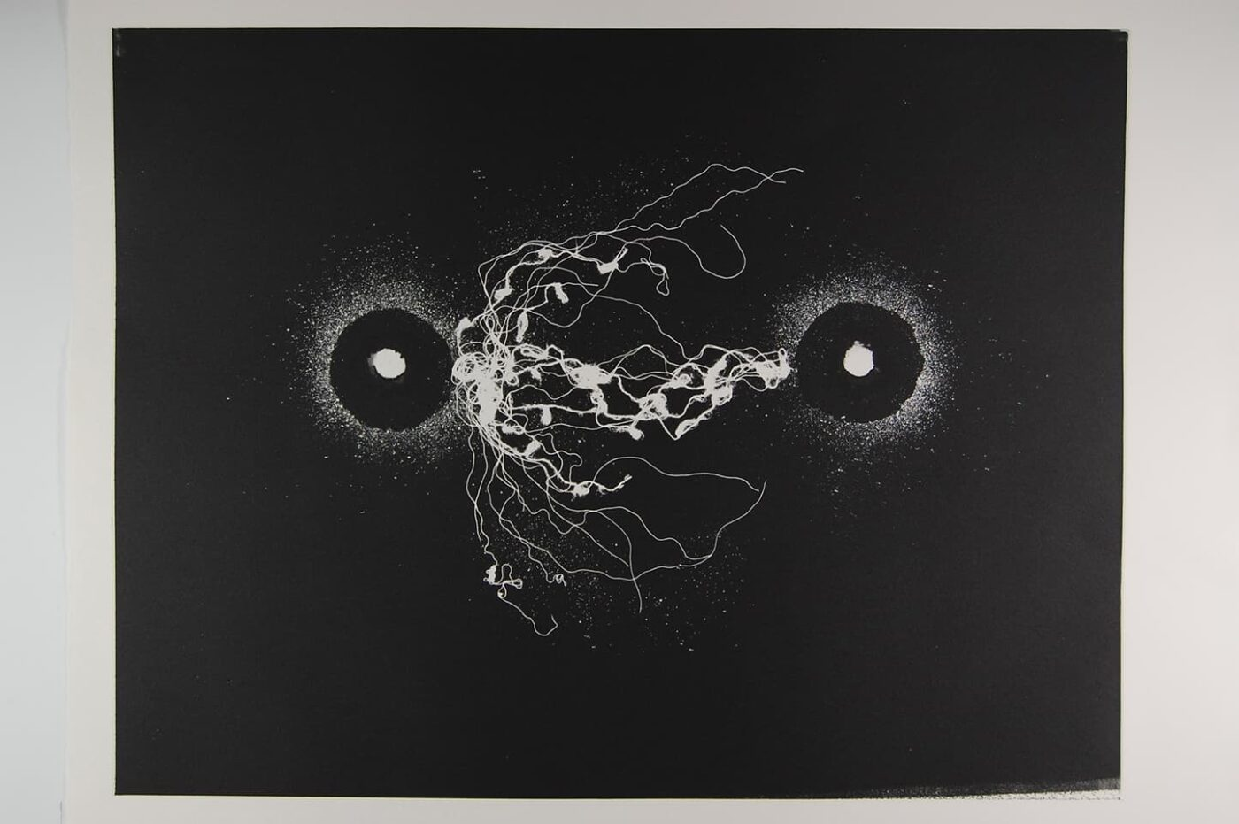 <strong>Out of Body 4.1</strong>, Susan Aldworth, monoprint, 56 x 76 cms, 2009.