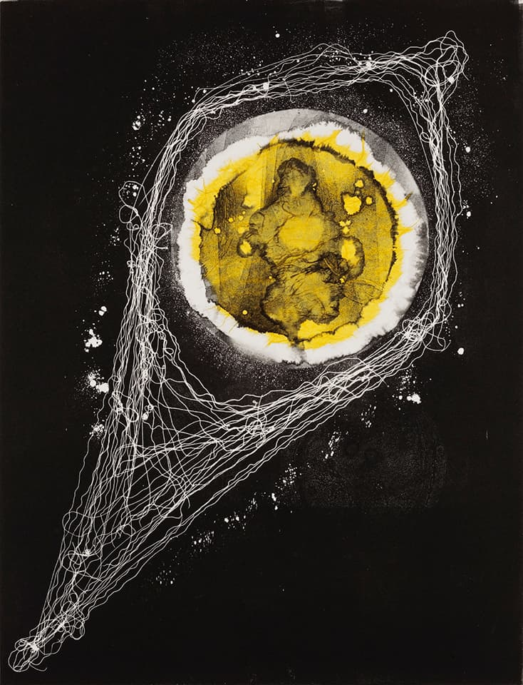 <strong>Heartwork 11</strong>, Susan Aldworth, monoprint, 76 x 56 cms, 2010. Photograph by Peter Abrahams.