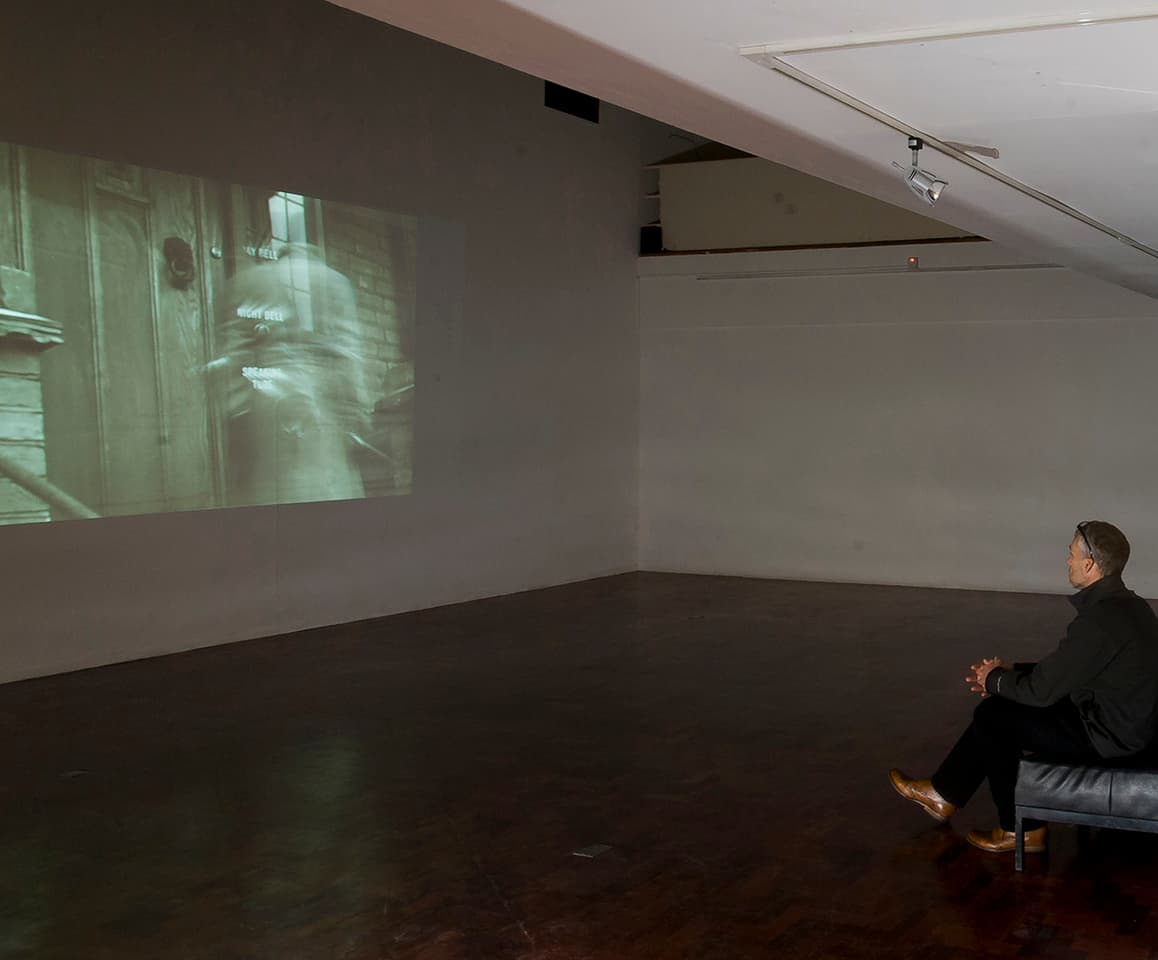 <strong>Memoirs</strong>, video by Susan Aldworth. Hatton Gallery, Newcastle  2012. Photograph by Gavin Duthie.