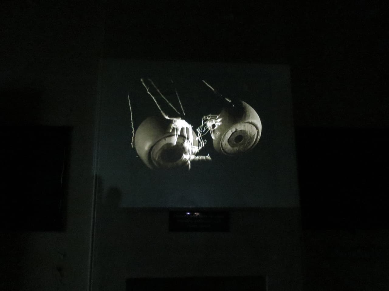 <strong>Memoirs</strong>, video installation by Susan Aldworth at St Clement's Hospital, 2013. Photograph by Emma Crouch.