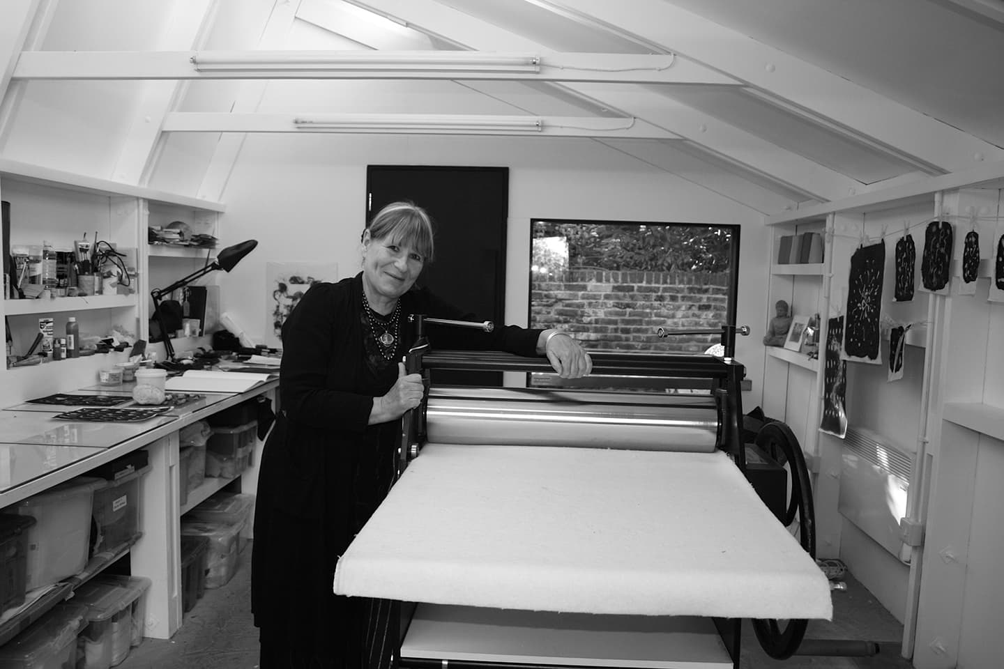 Susan Aldworth in her studio. Photograph by Louise Crawford.